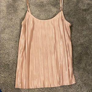 Spaghetti strap, light pink shirt